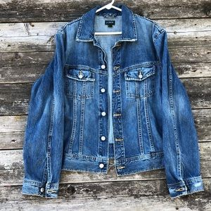 J.Crew Mens Denim Jacket/Jean Jacket Medium Wash